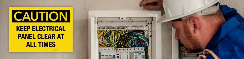 Sign Keep Electrical Panel Clear